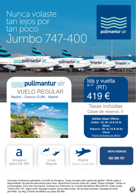 Oferta Madrid Cancún Marzo 2014