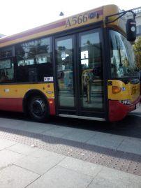 Bus del aeropuerto de Varsovia Chopin al centro
