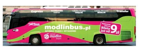 Modlin Bus del aeropuerto de Varsovia Modlin al centro.